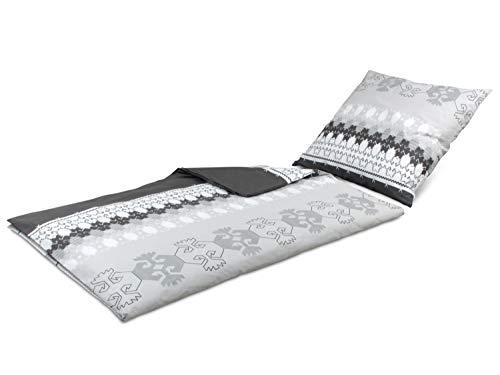 Bettwäsche aus 100% Baumwolle – mit verschiedenen Motiven – Set mit 1 Kissenbezug ca. 80 x 80 cm und 1 Bettdeckenbezug ca. 135 x 200 cm