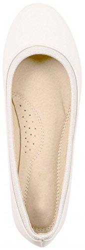 Elara Damen Ballerina | Hochwertige Glitzer Slipper | Flats Slip-Ons Weiss Basic Basic 2