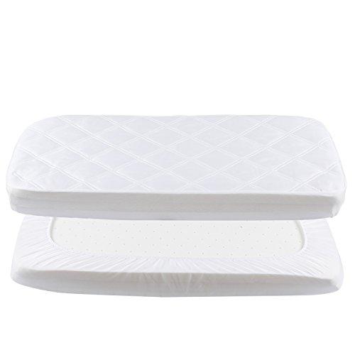 Coprimaterasso per culla impermeabile protezioni materasso per lettino neonato 50x90cm di yoofoss