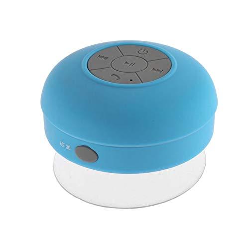 Yanbird - Altavoz de música con Ventosa para Ducha, estéreo, inalámbrico, Bluetooth, Color Azul