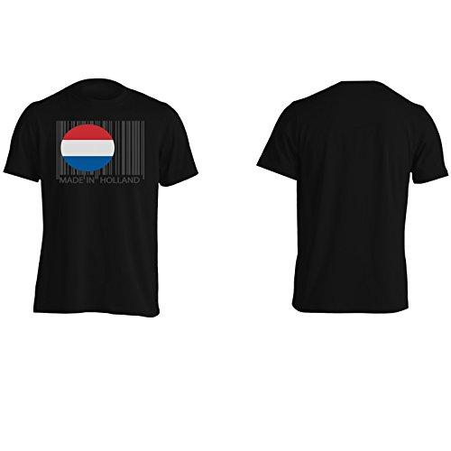 Made In Olanda Mondo Dei Viaggi Divertente Della Novità Uomo T-shirt uu28m Black