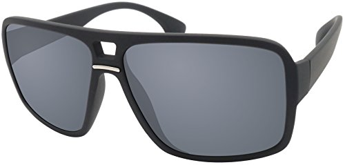 Original La Optica Verspiegelte UV400 Unisex Designer Sonnenbrille LO5 - Farben, Einzel-/Doppelpacks (Einzelpack Rubber Schwarz (Gläser: Grau))