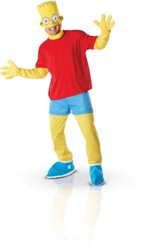 Rubie's 3 880655 XL - Bart Simpson Erwachsene Deluxe Kostüm, Größe XL, rot/gelb (Simpsons Kostüm Für Erwachsene)