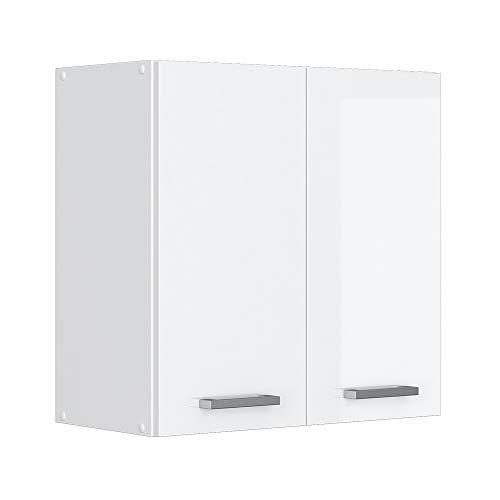 Vicco Küchenschrank Hängeschrank Unterschrank Küchenschränke Küchenunterschrank Arbeitsplatte, Möbel verfügbar in anthrazit und weiß (weiß ohne Arbeitsplatte, Hängeschrank 60 cm) -