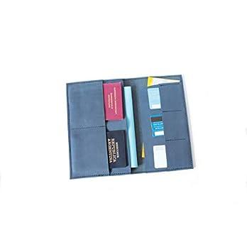 Echleder Travelorganizer Leder Reiseetui Passhülle blau handmade
