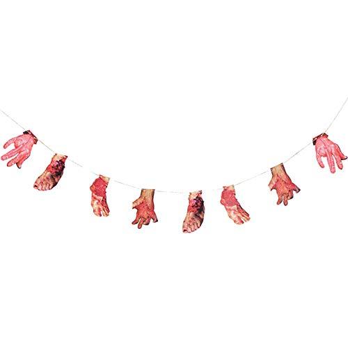 Aisoway Halloween Scary Blutigen Banner Hängen Bunting Garland Dekoration Prop Tür Party Supplies-Zeichen -
