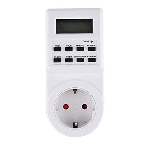 Jasnyfall Digital-Timer-Schalter Socket-Steckdose Plug-in Zeitsteuerung für Elektro-Gerät Weiß Digital-multimeter Plug-in