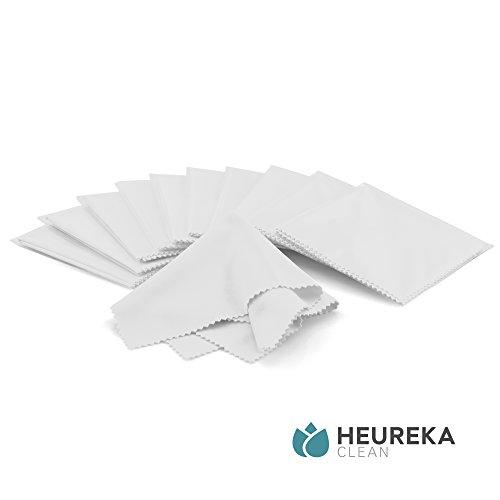 Heureka® Brillenputztücher aus Mikrofaser - Profi Reinigungstücher für empfindliche Oberflächen (10er Pack)