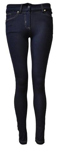 Women's Ladies Skinny Fit Denim Look Jeggings (14 (UK 18),