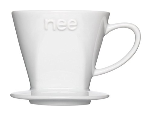, Porzellan Kaffee Tropfer und Melitta Cone Coffee Filter (# 2Weiß 100Zählen) Combo Set (Keramik-kaffee-filter Cone)