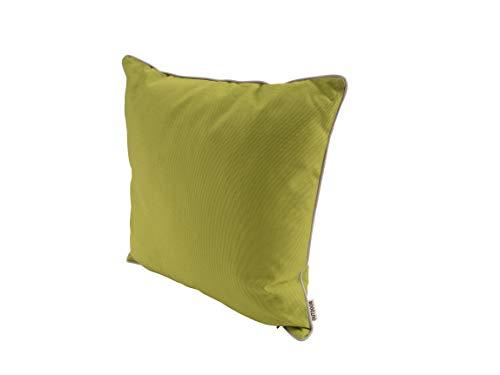CB Home & Style Outdoor Garten Kissen Garngefärbt Uni Wasserabweisend 45 x 45 cm (Grün)