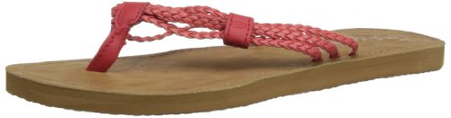 Rip Curl Ivy, Tongs Femme rosso (Red/Tan)