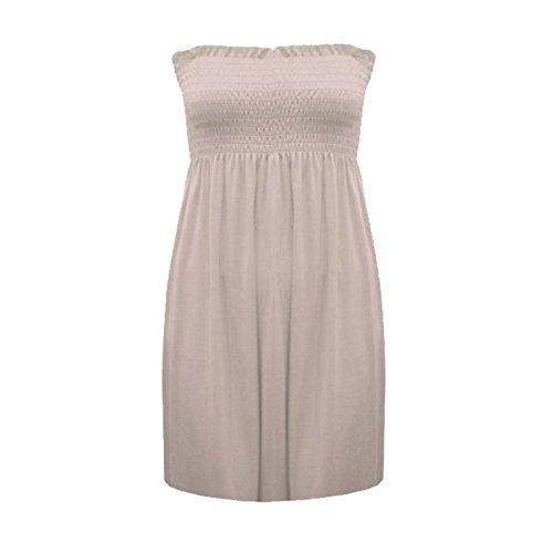 Fashion 4 Less - Débardeur - Bustier - Sans Manche - Femme Marron - Stone