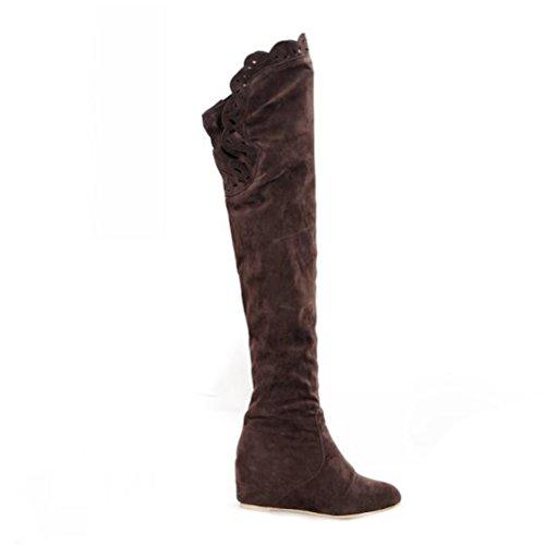 Très Chic Mailanda , Chaussures à plateau femmes Marron - Marron