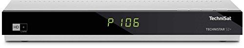 TechniSat TECHNISTAR S2+ / HD Sat-Receiver inklusive HD+ Karte (freigeschaltet für 6 Monate), LAN-Schnittstelle, UPnP-Livestreaming, PVR-Aufnahmefunktion, silber