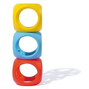 Mouk 43420 Oibo Primary - Juguete mordedor y agarrador, Color Amarillo, Rojo y Azul
