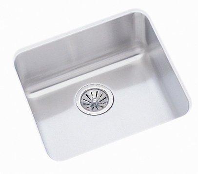 Elkay ELUHAD161650 Gourmet Lustertone Stainless Steel 18-1/2-Inch x 18-1/2-Inch Undermount Kitchen Sink by Elkay (Elkay Undermount Kitchen Sink)