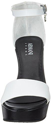Armani Jeans 9251527p546, Sandales  Bout ouvert femme Schwarz (bianco)