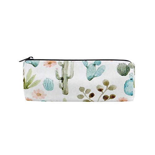 Pencil Case Butterfly Lavender Flower School Pen Pouch Office Zippered Pencil Cases Holder Women Makeup Bag