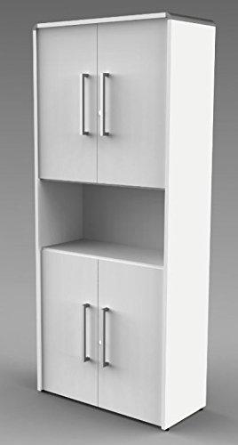 MODUS Kombischrank 5OH Aktenschrank Büroschrank Schrank Türenschrank Weiß