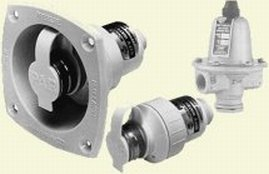 Jabsco Wasserdruckregler, Unterputzmontage, Weiß