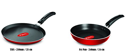 Pigeon Favourite Non-Stick Cookware Duo Pack (Fry Pan - 240mm And Flat Tawa - 250mm)