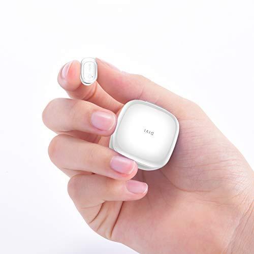 Bluetooth Kopfhörer, Kabellose Sport Bluetooth Kopfhörer/Stereo-Ohr Mini Sweatproof Anti-Lärm mit Lade Fall,Unsichtbarer Funk-Kopfhörer Ohrstöpsel, Ergonomischer Sitz Headset Weiß-MEHRWEG