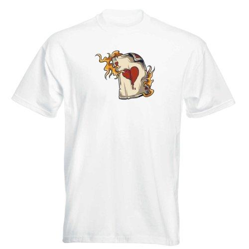 T-Shirt - Spieler 02 - gambler - Karten - Würfel - Herren - unisex Weiß
