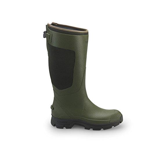 Tretorn Gummistiefel für Die Jagd TORNEVIK Breathable - Wasserdichte, Leichte Jagdstiefel, Langschaft Regenstiefel Aus Naturkautschuk ohne PVC - Grün Größe - Tretorn Schuhe