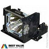 Lampe Alda PQ de remplacement compatible POA-LMP53 / 610 303 5826 / LV-LP16 pour vidéoprojecteur SANYO PLC-SE15 PLC-SL15 PLC-SU2000 PLC-SU25 PLC-SU40 PLC-XU36 PLC-XU40 / CANON LV-5200 / EIKI LC-SB10 LC-SB10D LC-XB10 LC-XB10D / BOXLIGHT CP-12TA
