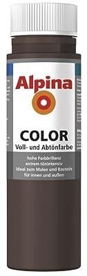 ALPINA COLOR Abtönfarbe, Bastelfarbe, Wandfarbe, Choco Brown, 250 ml von Alpina bei TapetenShop