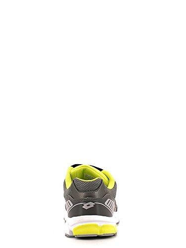 Lotto - Zenith Vi Jr S, Scarpe da corsa Unisex – Bimbi 0-24 Multicolore (Gris / Verde (Asphalt / Grn Aca))