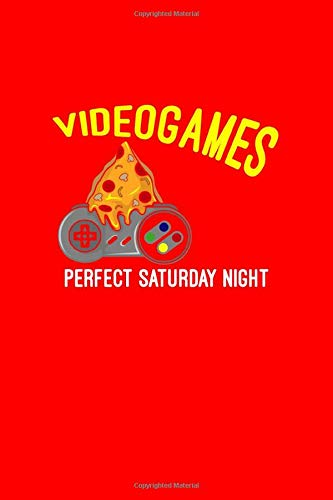 Videogames Pizza Perfect Saturday Night: Dot Grid Journal - Videogames Pizza Perfect Saturday Night Funny Gamer Gift - Red Dotted Diary, Planner, Gratitude, Writing, Travel, Goal, Bullet Notebook