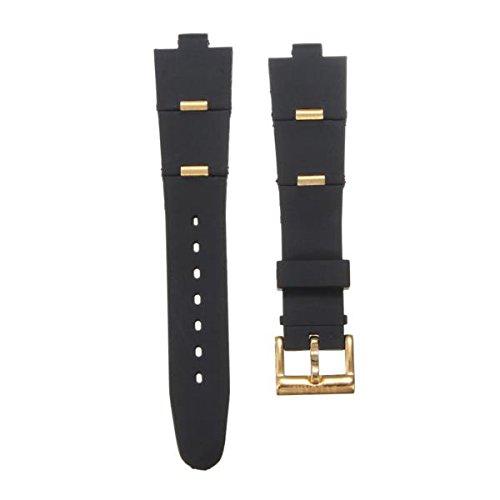 506496bbdff GOZAR Oro Y Oro Rosa Sílice Gel Reloj Banda Watch Correa para Reloj Bvlgari -Gold