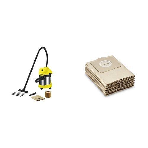Karcher wd3 premium aspiratore multifunzione più sacchetti filtro per mv 3, 5 pezzi