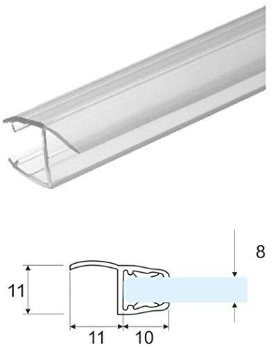 Guarnizione x box doccia mt.2 in pvc x vetri 6-8mm trasparente