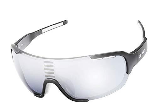 Lafeil Sportsonnenbrille Herren Damen Herren Radsportbrille Farbwechsel Sportfischen Outdoor Wandern Golf Elastischen Myopie Rahmen Schwarz