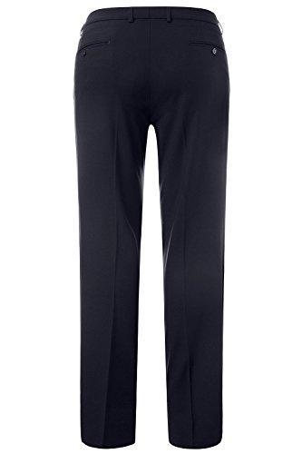 JP 1880 Herren große Größen bis 70 | Business-Hose | Flatfront Hose in schwarz & blau | Schnurwoll-Qualität | Knitterfrei, elastisch & pflegeleicht | Regular Fit | 705533 Navy