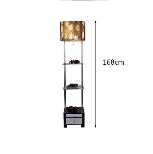 Led3 Schicht schwarz Glas Regal Stehleuchte Creative Hotel Studio Wohnzimmer Arbeitszimmer lesen dekorative Lampe Größe: hoch 168 cm
