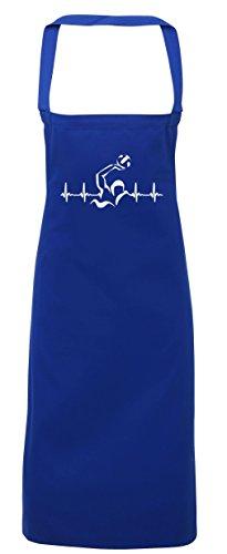 hippowarehouse Wasser Polo IS LIFE Herz Beat Schürze Küche Kochen Malerei DIY Einheitsgröße Erwachsene, königsblau, (Meer Dem Diy Kostüme Unter)