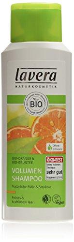 lavera Volumen Shampoo Bio Orange - Haarpflege bei feinem kraftlosen Haar, 200 ml