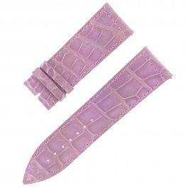 Franck Muller 25D 24–22mm echt Alligator Leder glänzend Lavendel Armbanduhr Band