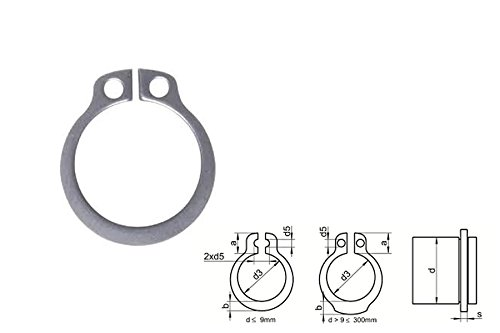 10 Stk. Sicherungsring f. Wellen DIN 471 EDELSTAHL A2 V2A A 18X1,2 mm