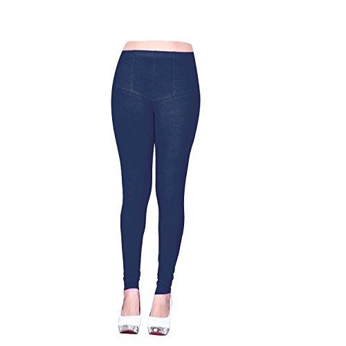 Vatsla Enterprise Women\'s Cotton XL Leggings( Leggingsxl031_NEAVY BLUE_ COLOUR )
