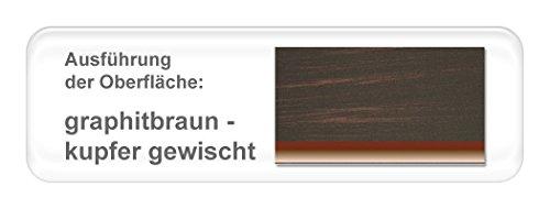 hochwertiges Metallbett Cesar komplett, Varianten, Bett + Lattenrost + Matratze, Jugendbett Singelbett Ehebett, Liegefläche:120 x 200 cm;Farben:graphitbraun - kupfer gewischt / bicolour
