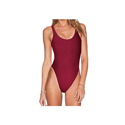 PLOPYSE& Slim and sexy Bikini Nylon Swimsuit with Tight Body and Fast Drying Brown S
