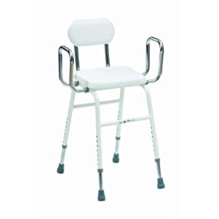Drive All-Purpose Stool with Adjustable Arms and Padded Back