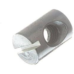 écrou de canon pour boulon de meubles fendue M6 x 14mm à long zp (pack de 10)