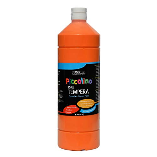 Piccolino Ready Mix Schultempera - Pintura para el Colegio (1000 ml), Color Naranja