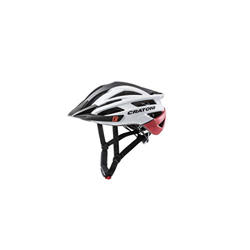 Cratoni Mountainbike Helm Agravic, Black-White-Red Matt, Gr. S/M (54-58 cm)